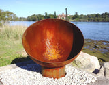 The Goblet Fire Pit - Cast Iron - 80cm Dia - Rust - Fire Pits Direct