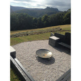 Natural Brazier Fire Pit 80cm dia 5mm Forged Steel