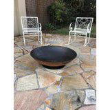 Cast Iron Fire Pit 800 on Ring Base