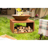 Moho Fire Pit and Wood Store