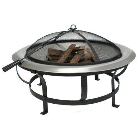 Fire Up Stainless Steel Fire Pit & Mesh 76cm