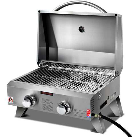 Portable 2 Burner Gas BBQ