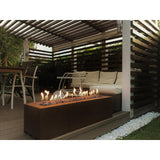 Galio Linear Gas Fire Pit Corten