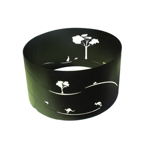 Roo's Fire Pit Ring Black 75cm