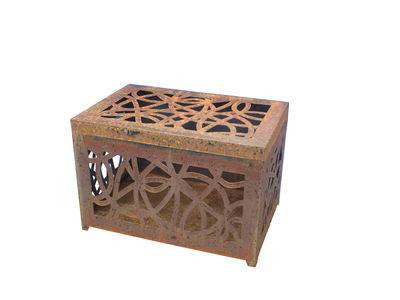 Scibble Chest Wood Storage 72cm Rust