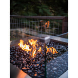 Gas Fire Pit Square Stainless Steel 1m