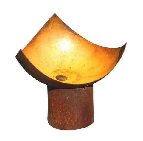 The Chalice Fire Pit - Cast Iron - 80cm dia - Rust - Fire Pits Direct