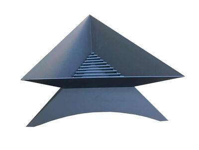 Triangle Fire Pit 80cm Black