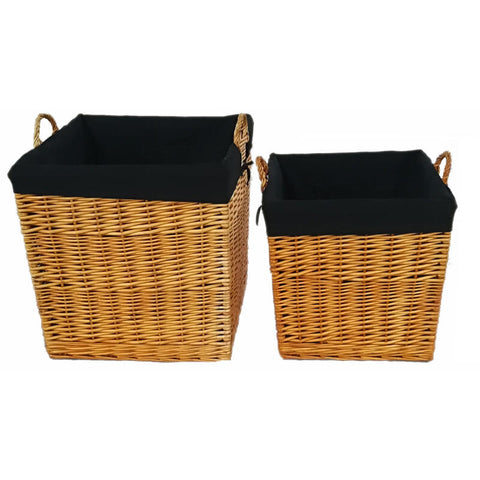 Wicker Baskets Set of 2 - Natural