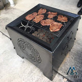 Wanderer Square Brazier Camp Fire Pit