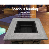 Outdoor Stone Fire Pit Table 60cm