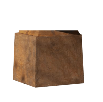Corten Steel Cube Stand 50cm - Fire Pits Direct