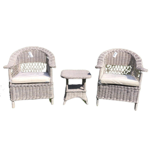 Marseille 3 Piece Wicker Setting