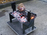 The Wedge™ Deluxe Battery Spit Rotisserie - Fire Pits Direct