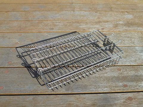 Multi Adjustable Spit Rotisserie Basket for The Wedge or Wombat