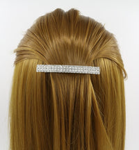 One Pair of rectangle Rhinestones Hair clip / Barrette