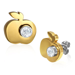 2 in 1 Stainless Steel Apple and Stud earrings. Teacher Appreciation Gift