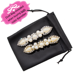 Hair Clip / Barrette. Faux-Pearls and Rhinestones. Hair accessories for Girls and women.