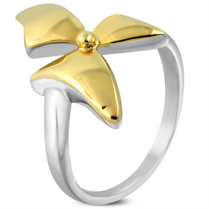 Stainless Steel bow ring
