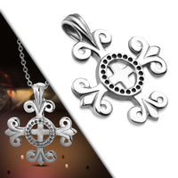 Chain with a cross with Fleur de lis design