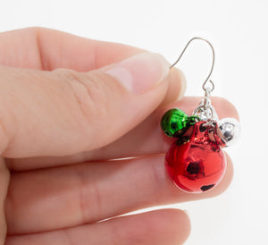 Christmas Jingle bell earrings. Under $5 Christmas gift for her.