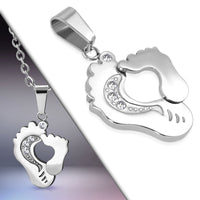 Mom and Me Footprint Stainless Steel