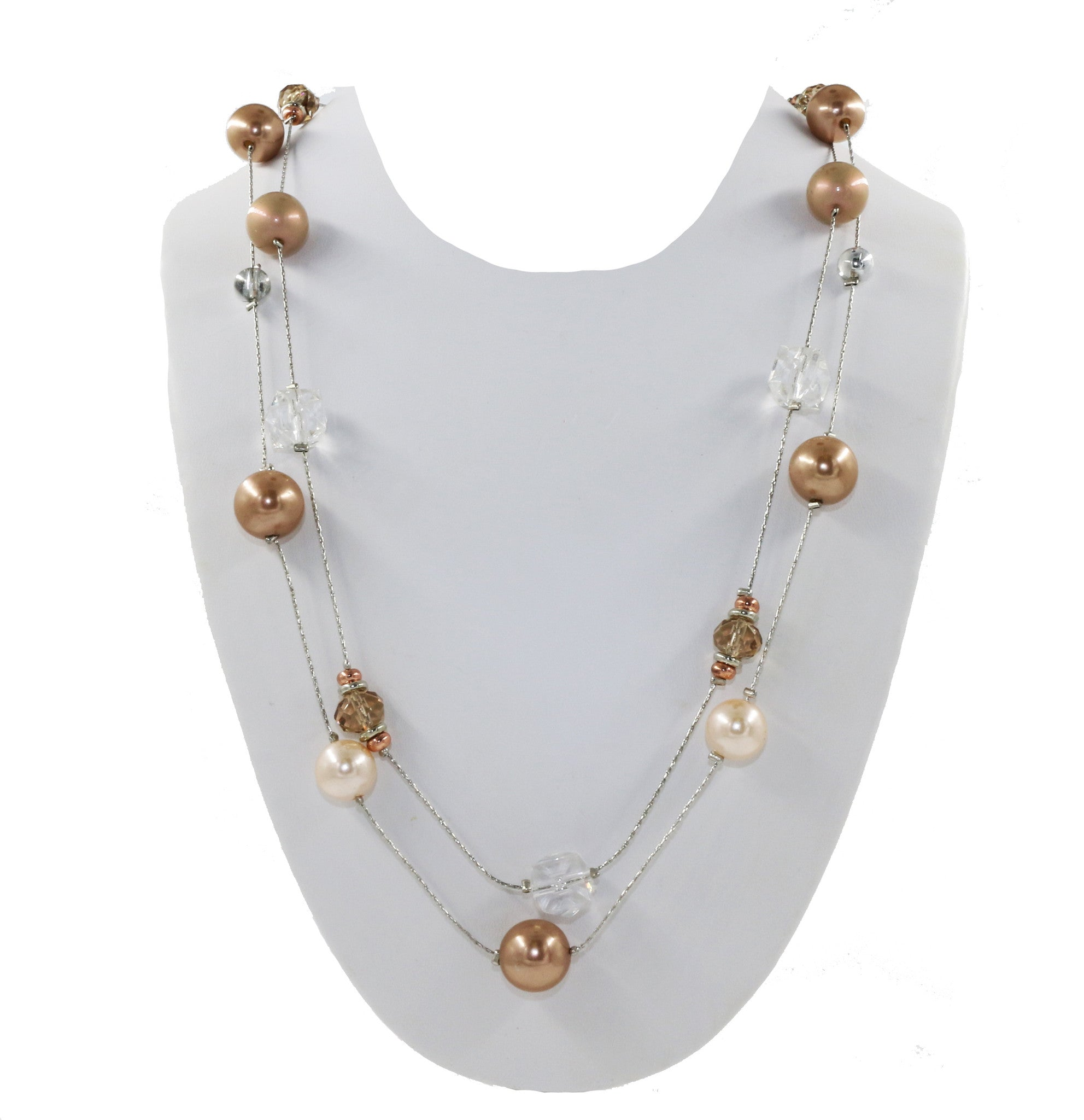 3d78da671 Multi Layered Necklace with Faux-Pearls and Beads – Accessorize it, LLC