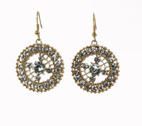 Round shape Rhinestones Elegant Earrings