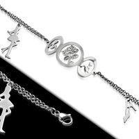 Stainless Steel charm bracelet. Silver color