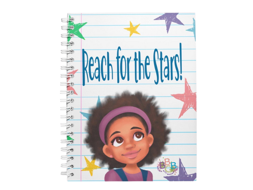 """Reach For The Stars""™ Girl Notebook"