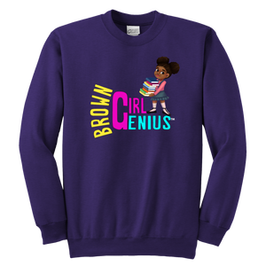 Brown Girl Genius Crewneck Sweatshirt (dark colors)