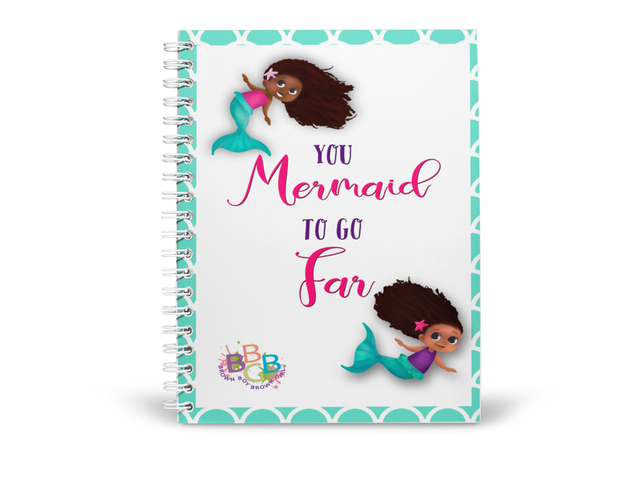 "PRE-ORDER ""You Mermaid To go Far"" Notebook"
