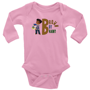 Brown Boy Brainy Baby Bodysuit