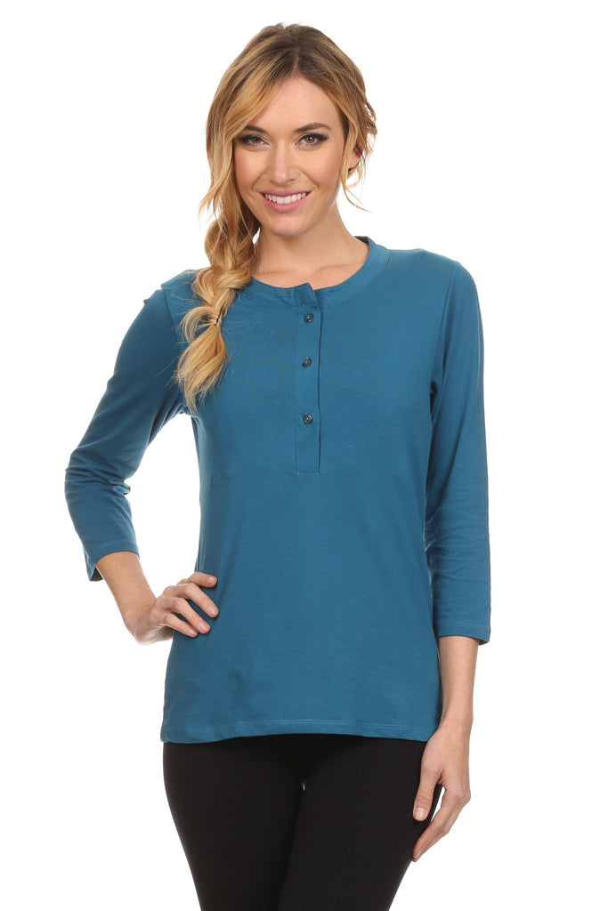 Hanna Henley Nursing Top - BellyMoms Maternity