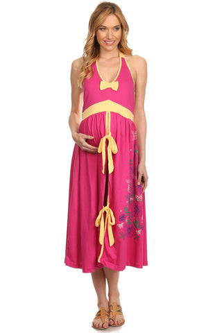 Maternity Hospital Gown - Berry - BellyMoms Maternity