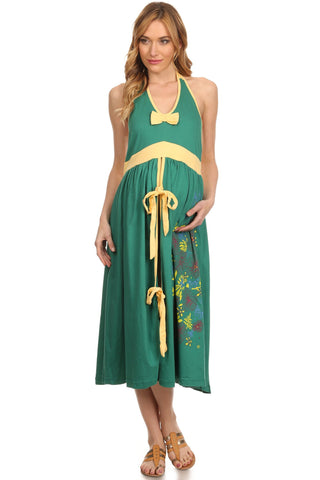 Pregnancy Labor Gown - Green - BellyMoms Maternity