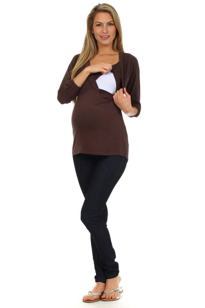 Victoria Billow Sleeve Nursing Top - BellyMoms Maternity