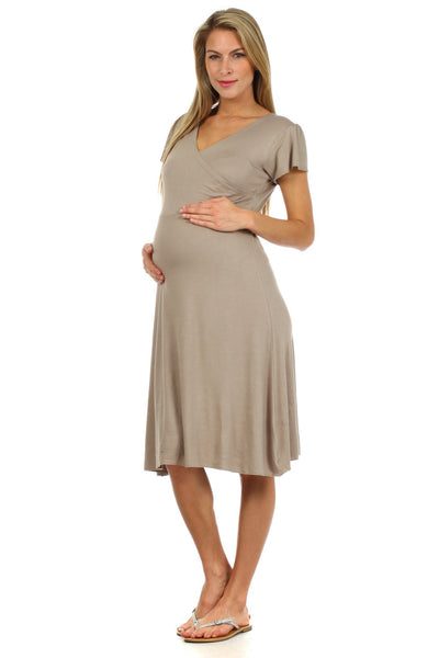 Angelina Crossover Nursing Dress (FINAL SALE) - BellyMoms Maternity