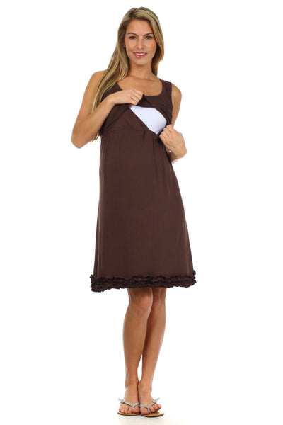 Bella Baby Doll Nursing Lounge Dress - BellyMoms Maternity
