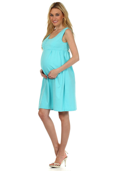 Deb Pin Tuck Nursing Dress - BellyMoms Maternity