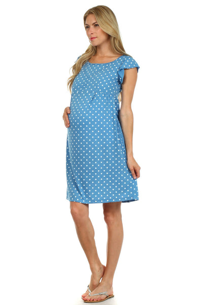 Katherine Dotted Nursing Dress - BellyMoms Maternity