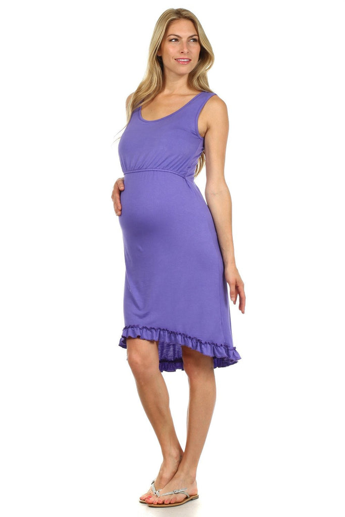 Maddie High-Low Nursing Dress - BellyMoms Maternity