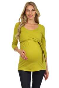 Fashionable Wrap and Tie Nursing Top - BellyMoms Maternity