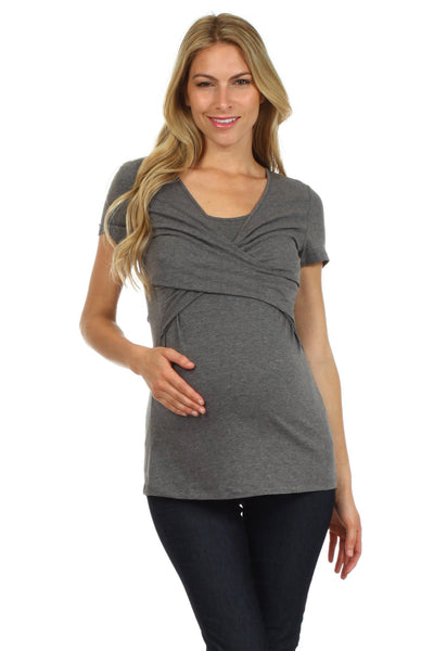 Julia Crossover Twist Nursing Top - BellyMoms Maternity