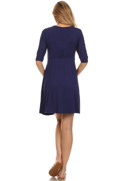 Jolie Crossover Nursing Dress - BellyMoms Maternity