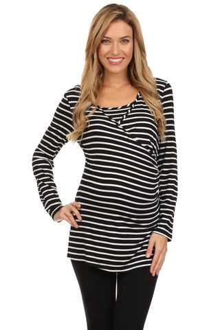 Bethany Nautical Striped Nursing Top - BellyMoms Maternity