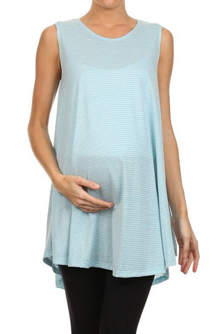 Pin Striped Sweep Maternity Tank - BellyMoms Maternity