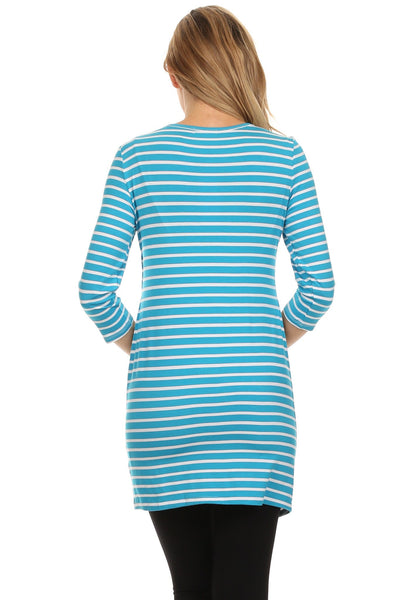 Bailey Striped Empire Nursing Top - BellyMoms Maternity