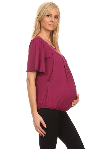 Paige Pleated Nursing Top - BellyMoms Maternity