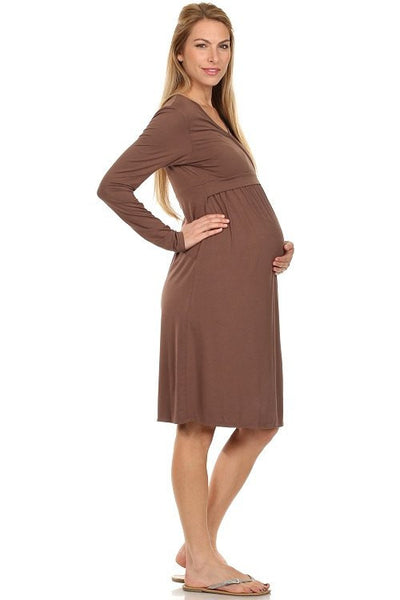 Talia Surplice Neck Nursing Dress - BellyMoms Maternity